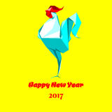 Origâmi do galo do ano novo feliz Imagens de Stock Royalty Free