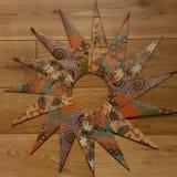 Origâmi estrela/grinalda de 15 pontos Imagem de Stock Royalty Free