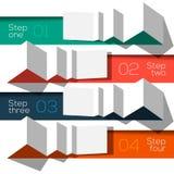 Origâmi gráfico do molde da informações de design moderna denominado ilustração stock
