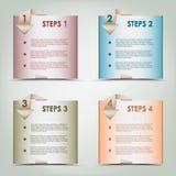 Origâmi moderno fundo colorido das etapas Fotografia de Stock Royalty Free