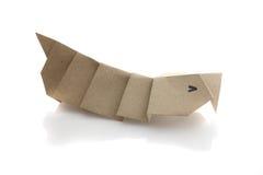 Origam iLuna Moth Caterpillar Royalty Free Stock Image