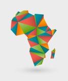 Origamiöversikt av africa stock illustrationer