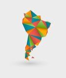 Origamiöversikt av Sydamerika stock illustrationer