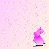 Origami兔子动物背景屏幕传染媒介 库存图片