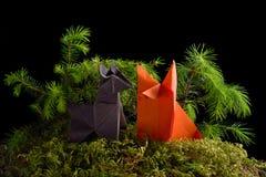 Origami动物 库存照片