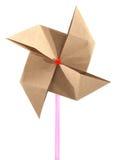 Origami回收纸风车 库存照片