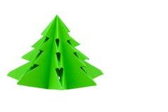 Origami圣诞树 免版税库存照片