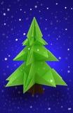Origami圣诞树 库存图片