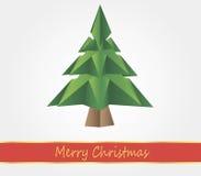 Origami圣诞树 免版税库存图片