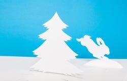 Origami圣诞节装饰。 库存图片