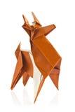 origami圣诞节驯鹿  库存照片