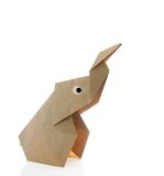 Origami大象 库存照片