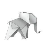 Origami大象 皇族释放例证