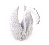 origami天鹅 免版税库存照片