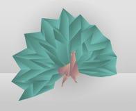 Origami孔雀 免版税库存照片