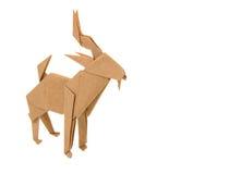 Origami山羊 库存照片