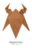 Origami山羊头 免版税图库摄影