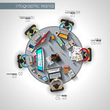 Origami平的样式飞行物设计或小册子模板您的企业项目的 免版税图库摄影