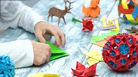 origami折叠的教训的人 股票视频