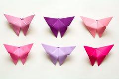 Origami日文报纸蝴蝶 免版税图库摄影