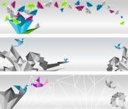 Origami横幅。 免版税库存照片