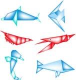 Origami海洋动物 图库摄影