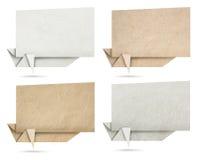 Origami演讲横幅纸纹理 免版税库存照片