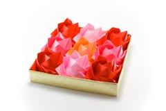 origami玫瑰 库存照片