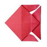 Origami红色鱼 免版税库存照片
