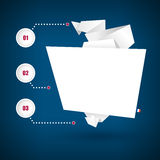 Origami纸横幅 也corel凹道例证向量 皇族释放例证