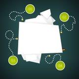 Origami纸横幅 也corel凹道例证向量 免版税库存照片
