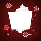 Origami纸横幅 也corel凹道例证向量 图库摄影
