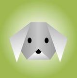 从origami纸的狗  免版税图库摄影