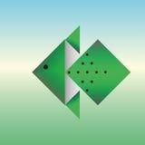 从origami纸的鱼  图库摄影