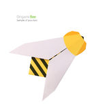 Origami纸蜂 库存照片