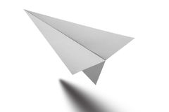 Origami纸飞机 免版税库存照片