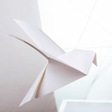 Origami纸鸠 库存图片
