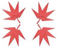 Origami花由纸张制成 免版税库存照片