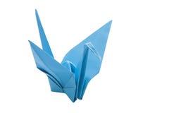 Origami蓝色鸟纸 免版税库存图片