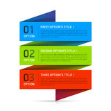 Origami设计元素 免版税库存图片