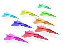 Origami飞机 免版税库存照片