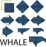 Origami鲸鱼 库存图片