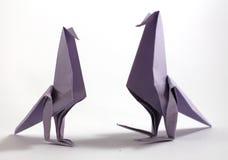 Origami鸟 免版税库存照片