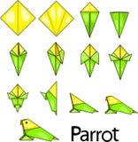 Origami鹦鹉 库存图片