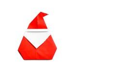 Origami Święty Mikołaj Fotografia Royalty Free