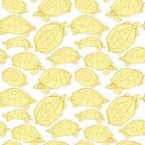 Origami żółwie rysuje ilustrację Obraz Royalty Free