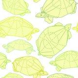 Origami żółwie rysuje ilustrację ilustracja wektor