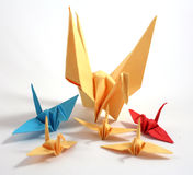 Origami Κύκνος Στοκ φωτογραφία με δικαίωμα ελεύθερης χρήσης