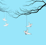 Origami πουλιών διανυσματική απεικόνιση