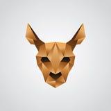 Origami προσώπου καγκουρό Στοκ Εικόνα